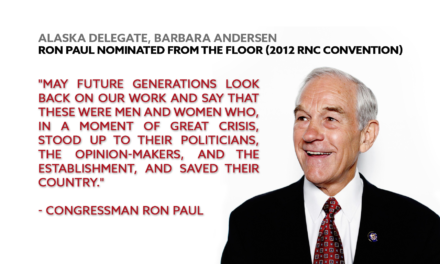 Alaska Delegate – Ron Paul Nominated from the Floor
