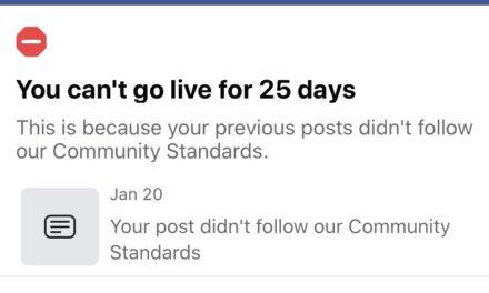 Facebook's Live Censorship