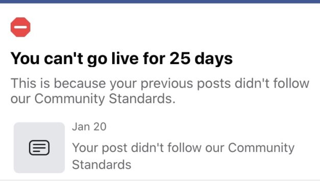 Facebook's Live Censorship